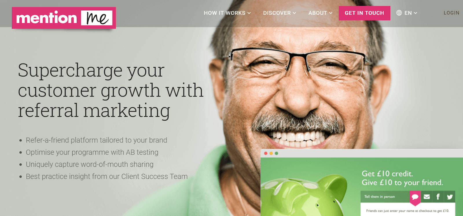 Mention Me Referral Marketing Software Tool