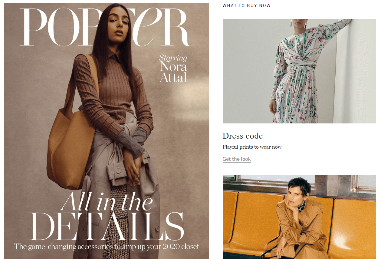Net A Porter Ecommerce Content Marketing Examples