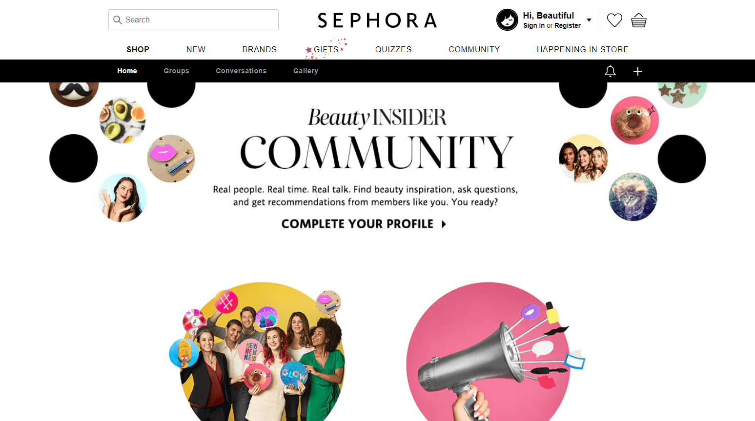 Sephora Ecommerce Content Marketing Examples