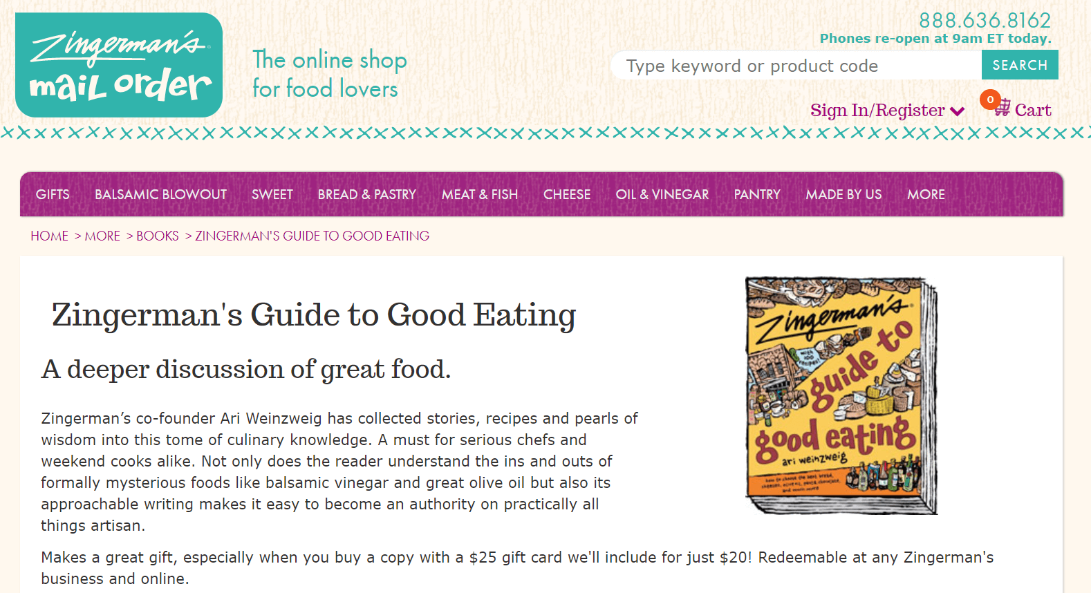 Zingerman Ecommerce Content Marketing Examples