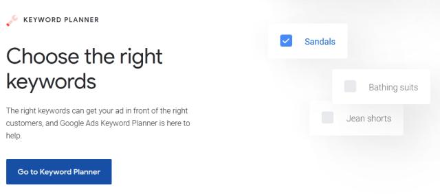 Alternativa de SEMrush del Planificador de palabras clave de Google