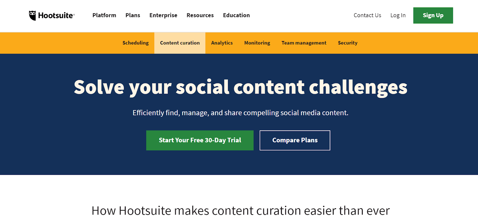 Hootsuite BuzzSumo Alternatives