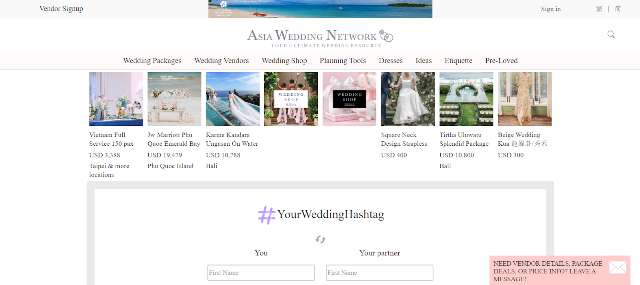 Asia Wedding Network Wedding Hashtag Generator