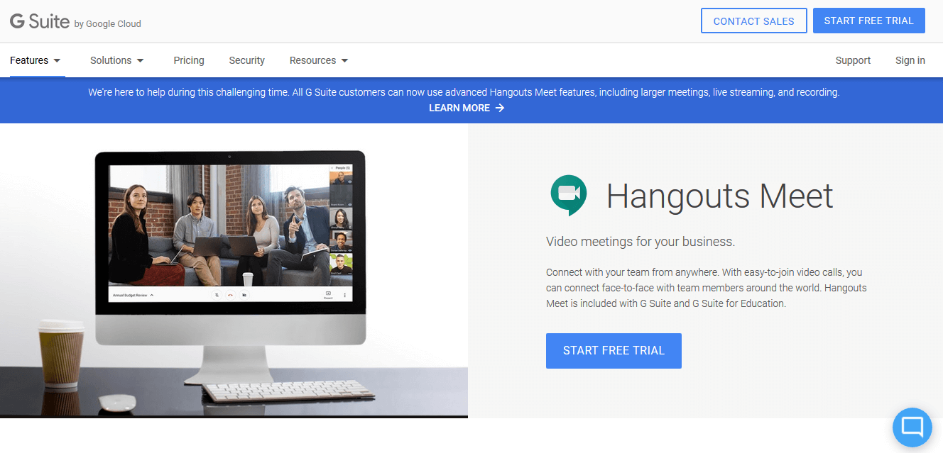 Hangouts Meet Zoom Alternative