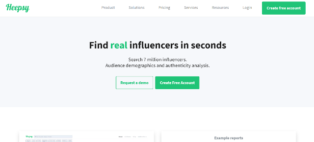 Heepsy Instagram Marketing Tool