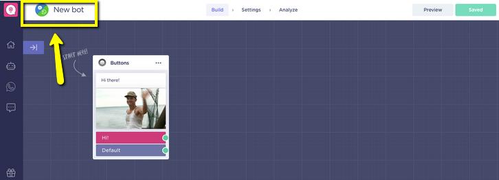 New bot builder screen LandBot Review
