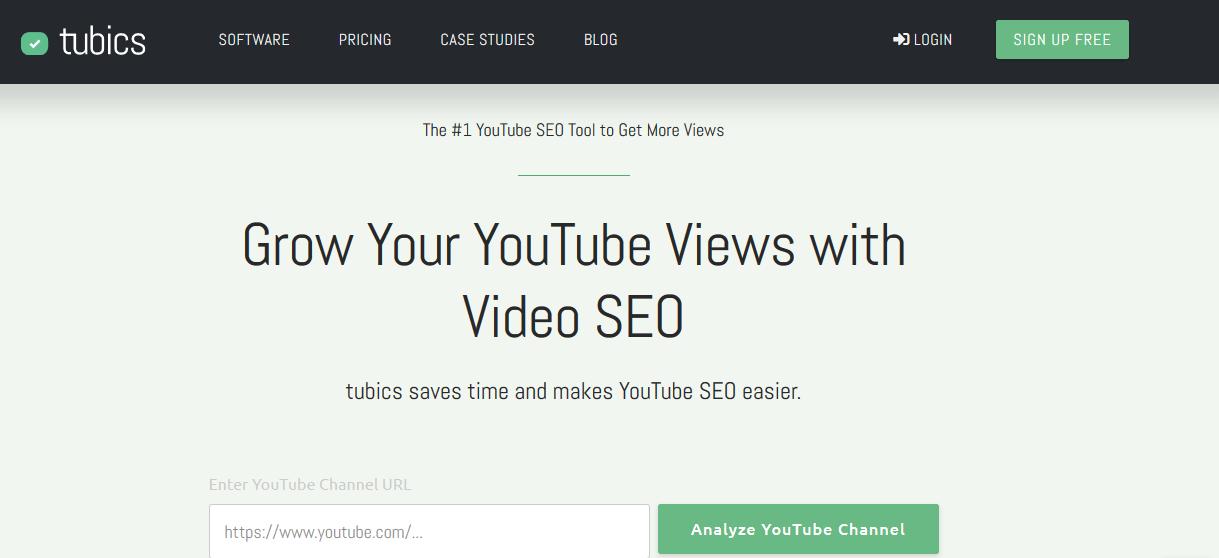 Tubics YouTube Marketing Tools