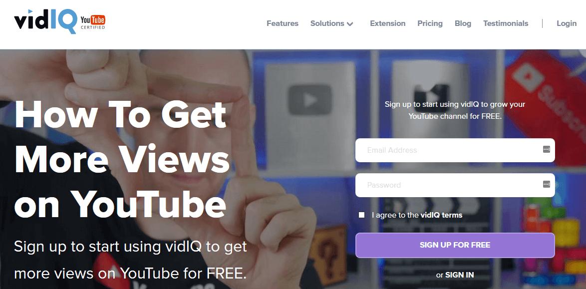 VidIQ YouTube Marketing Tools