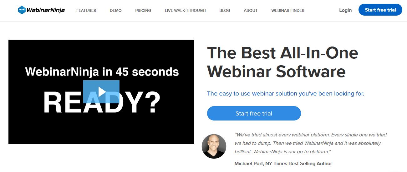 WebinarNinja Zoom Alternative