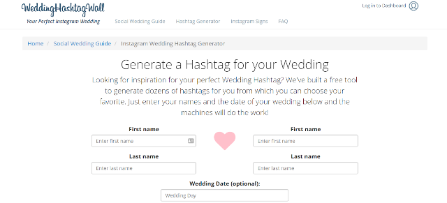 Wedding Hashtag Wall Wedding Hashtag Generator
