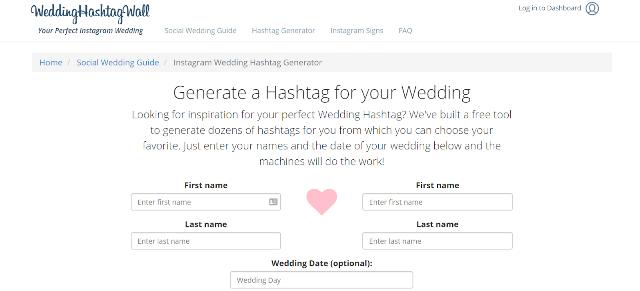 Wedding Hashtag Wall Wedding Hashtag Generator