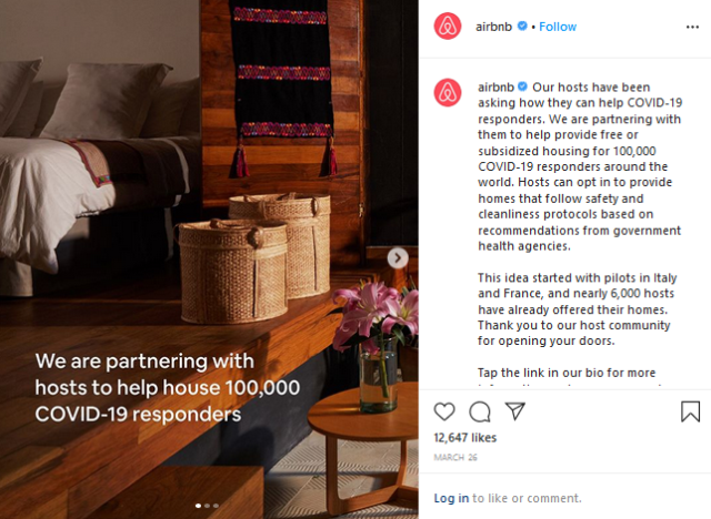 campaign from Airbnb business continuity