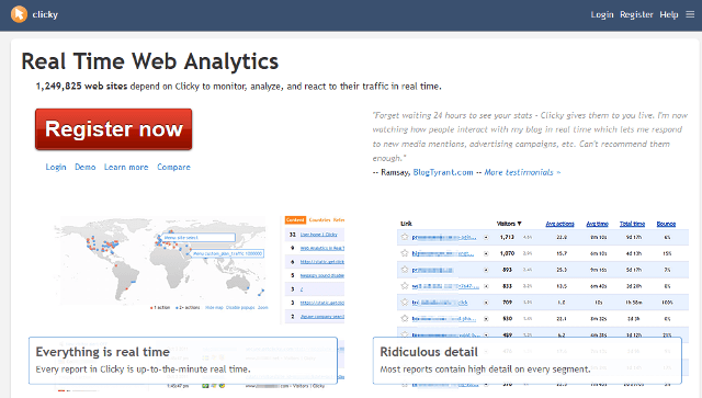 Clicky Google Analytics alternatives