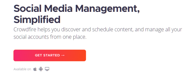 Crowdfire B2C Social Media Marketing