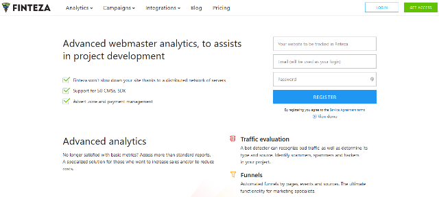 Finteza Google Analytics alternatives