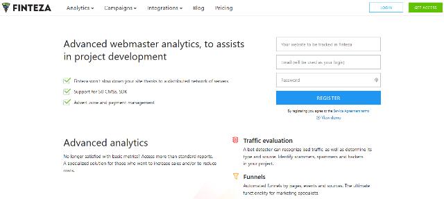 Finteza Google Analytics alternatives