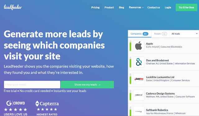 Leadfeeder Google Analytics alternatives