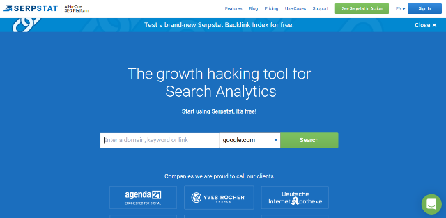 Serpstat Google Analytics alternatives