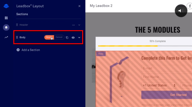 Layout section ClickFunnels vs Leadpages vs ConvertFlow