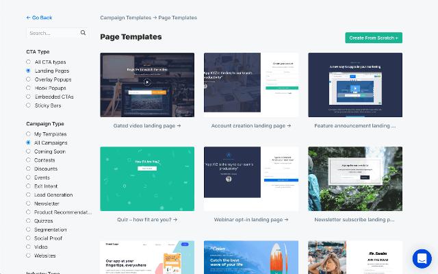 different templates ClickFunnels vs. Leadpages vs. ConvertFlow