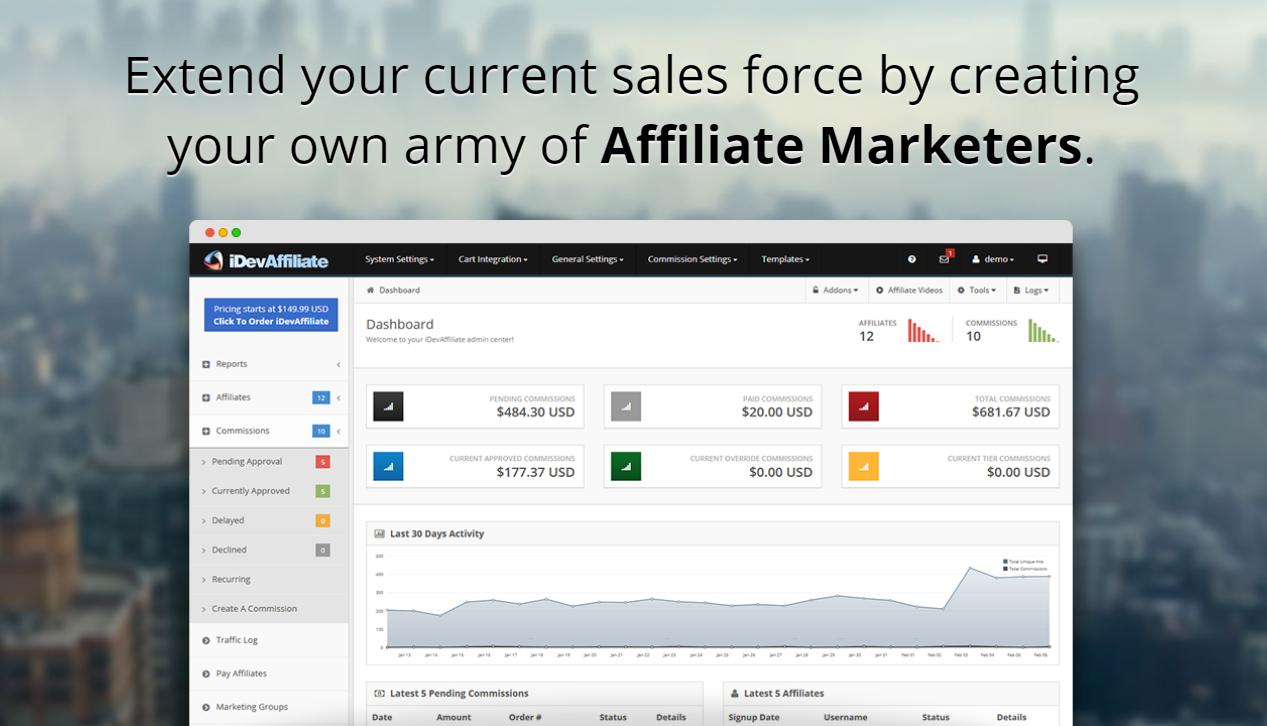 iDevAffiliate Performance Marketing Platform