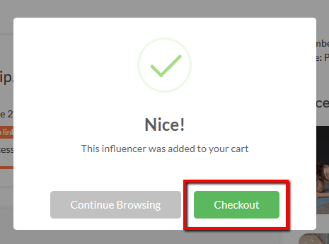 Add Influencers to Campaign