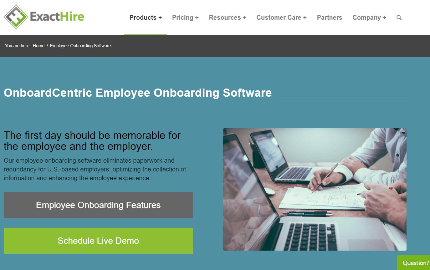 ExactHire Employee Onboarding Tool