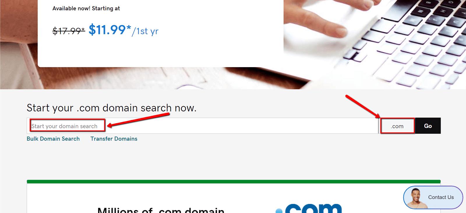 GoDaddy Search