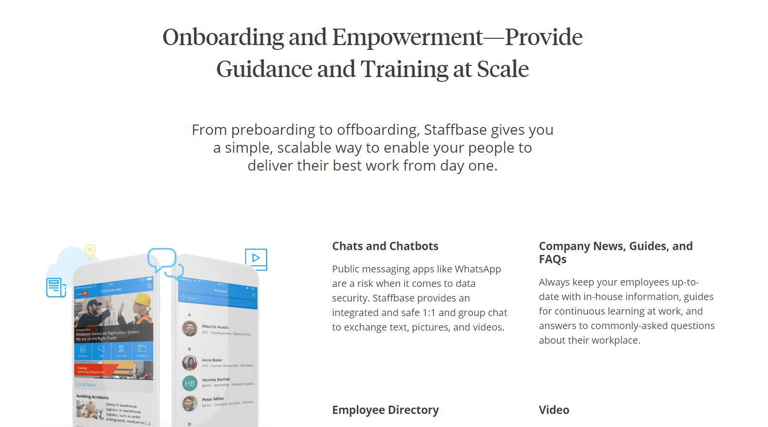 Staffbase Employee Onboarding Tool