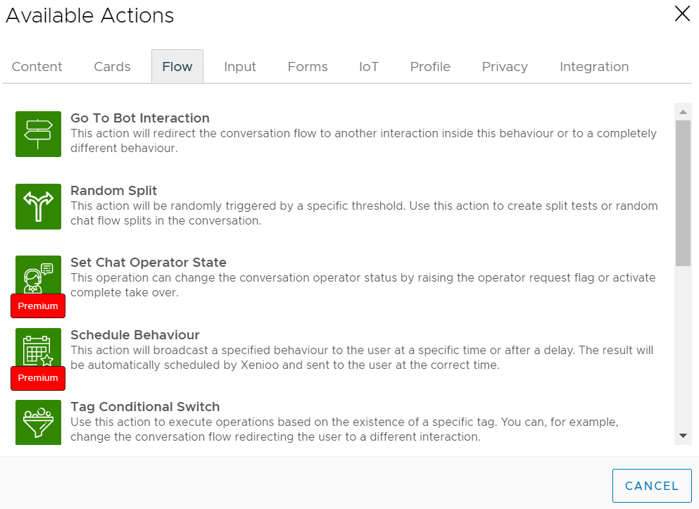 Available Action