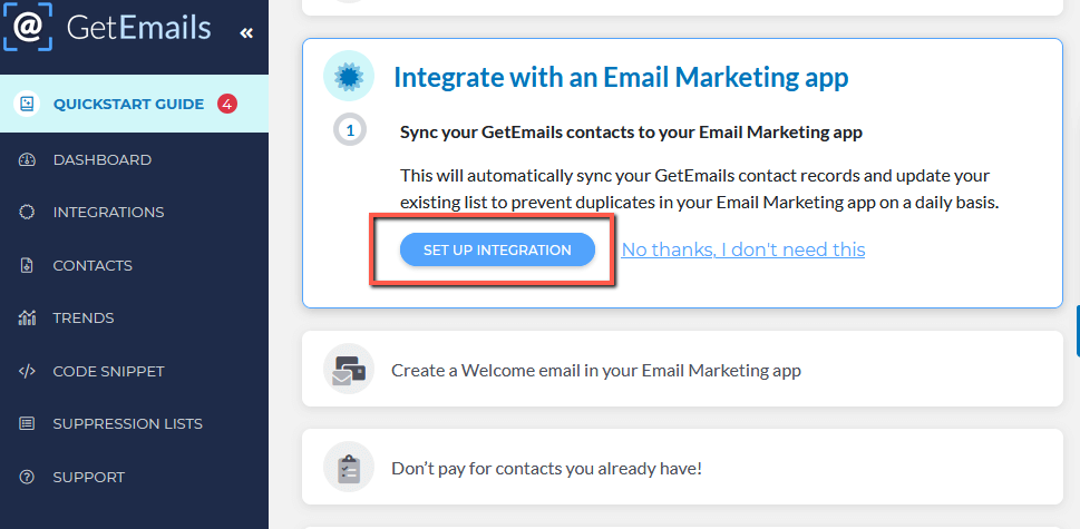 GetEmails Offer