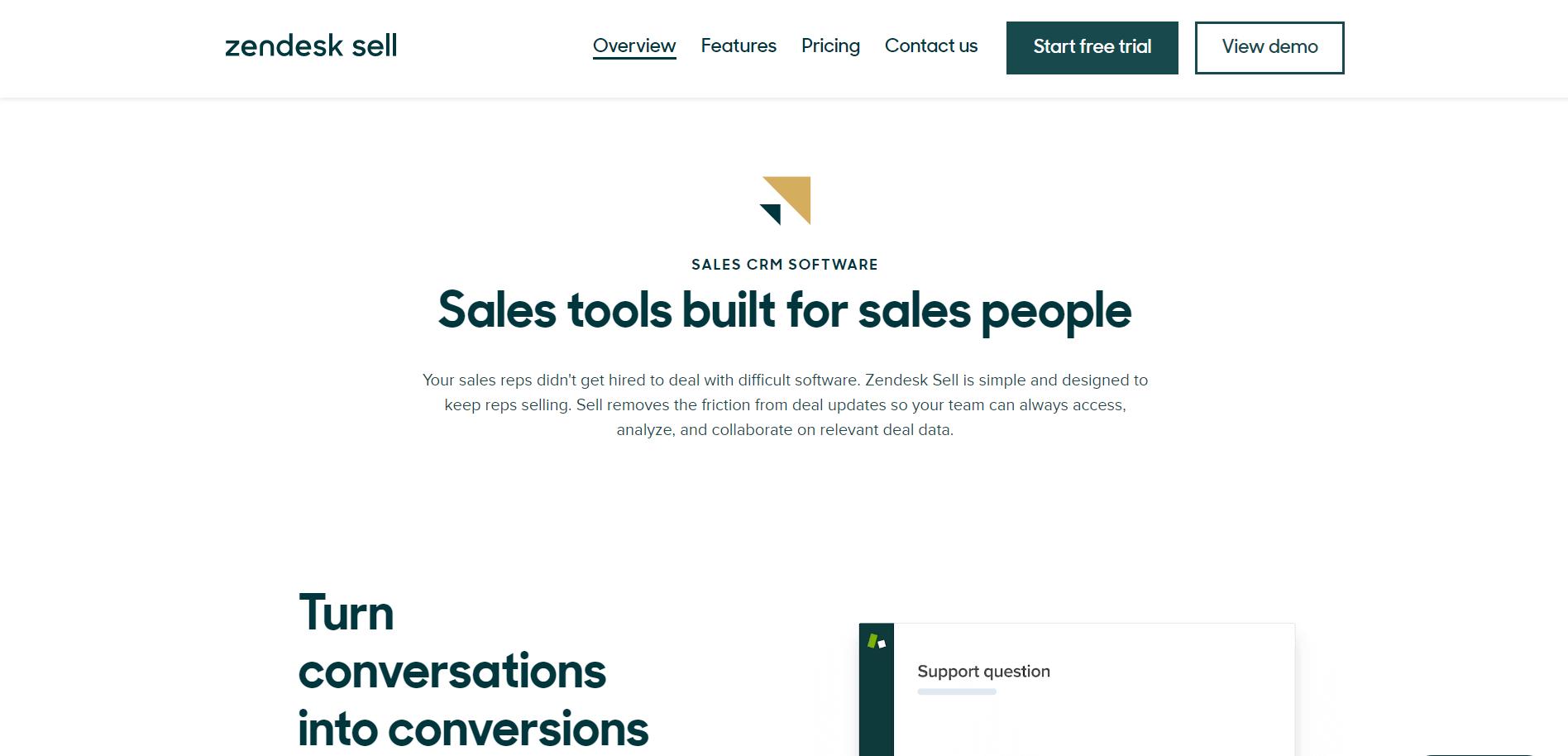 Zendesk Sell Best Sales Funnel Tools