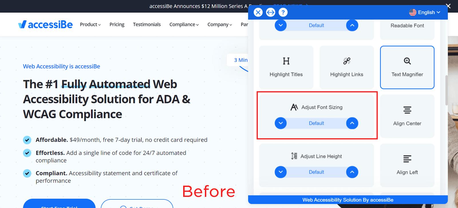 Adjust Font Sizing