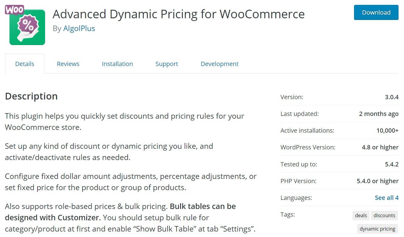 Advanced Dynamic Pricing for WooCommerce