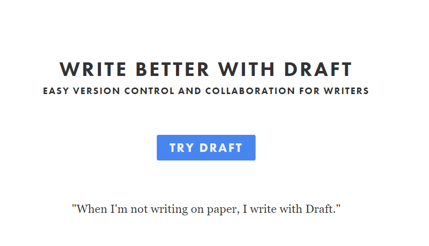 Draftin Best Writing Tool