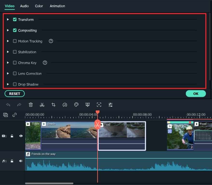 Other Video Editing Features