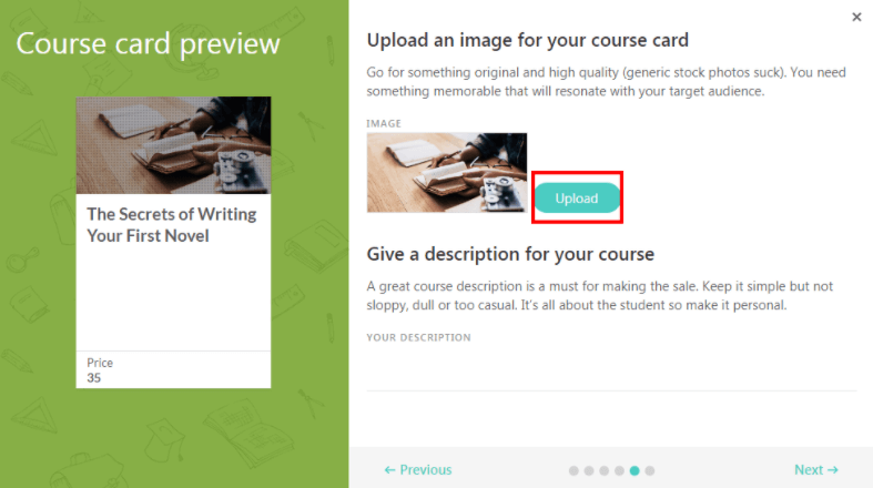 customize your course card