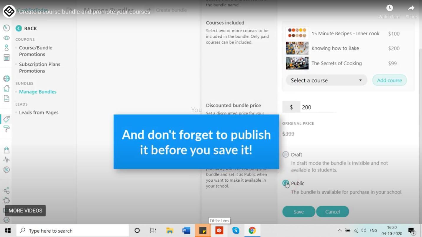 publish the bundle
