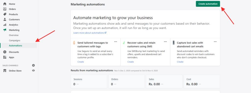 Marketing Options Automations