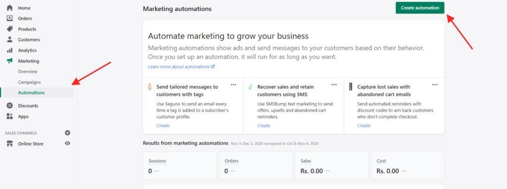 Marketing Options Automations