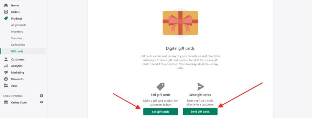 Product Management Gift Cards