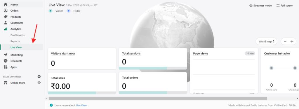 Store Analytics Live View