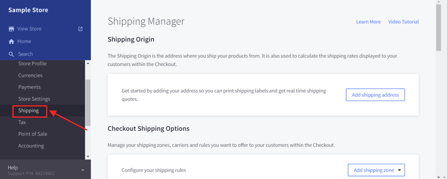 Store Management Shipping Manager