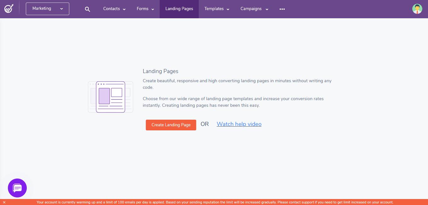 EngageBay Landing Pages