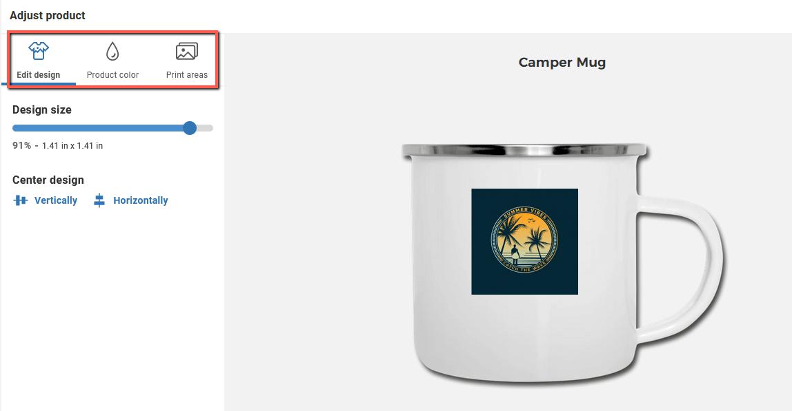 Spreadshop Camper Mug