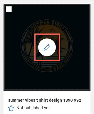 Spreadshop Edit Screen