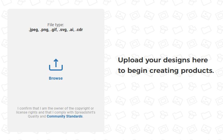 Spreadshop Upload any Design