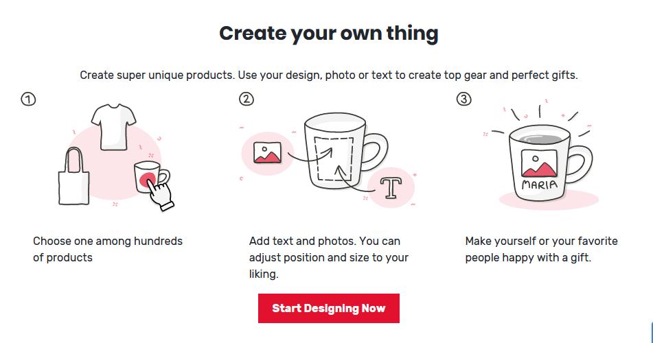 Spreadshop create unique merchandise
