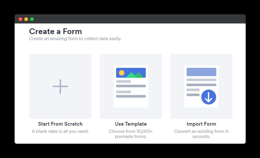 jotform built in templates