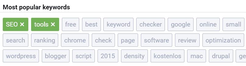 serpstat most popular words